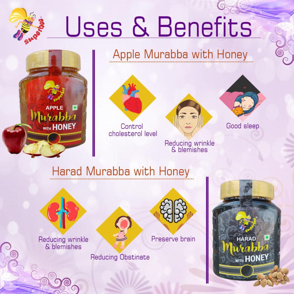 Apple murabba with honey