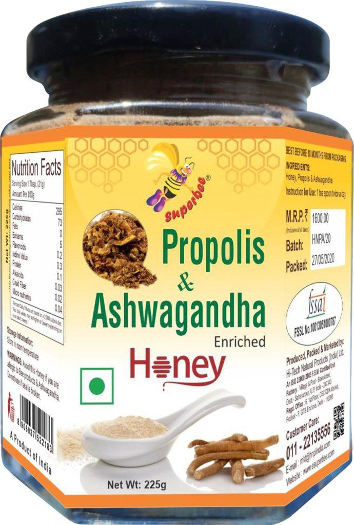 Propolis & Ashwagandha Enriched Honey.